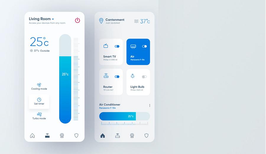 کنترل خانه هوشمند نرم افزار موبایل شرکت مهندسی المان الکترونیک eleman smarthome smart home mobile app control