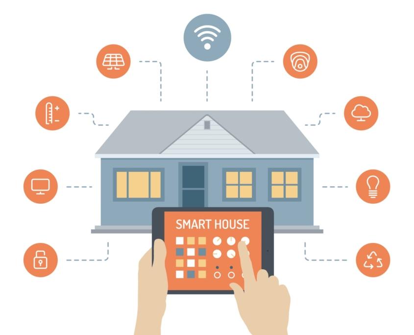 اینفو گرافیک خانه هوشمند شرکت مهندسی المان الکترونیک eleman smarthome smart home